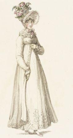 Fashion Plate (Morning Dress) Rudolph Ackermann (England, London, 1764-1834), England, London, August 1, 1818