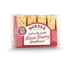 Border Shortbread Fingers Glacé Cherry 165g 5.8 oz