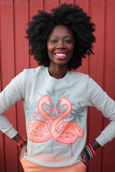 Flamingo love | Blogger Cynthia of verycynthia.com wears HM.com Trend