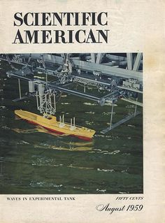Cover photograph by William Vandivert (more info on request) See more Scientific American covers here American Wave, Scientific American, Waves, Movie Posters, Film Poster, Ocean Waves, Billboard, Film Posters, Beach Waves