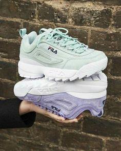 52fff36e17bbc Fila Premium Disruptor sneakers  choose them in mint green or purple    lilac
