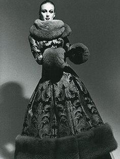 fur russian dress