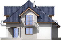 DOM.PL™ - Projekt domu ARD Kasztan 2 paliwo stałe CE - DOM RD1-60 - gotowy koszt budowy Roof Design, Design Case, Home Fashion, Dom, My House, Floor Plans, Cabin, Flooring, Mansions