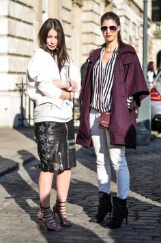Irina of A Portable Package with Wendy of Thankfifi at London Fashion Week