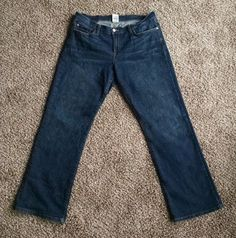 Women's Lucky Brand Dungarees Straight Leg Classic Fit Jeans Size 14 / 32 #LuckyBrand #Relaxed