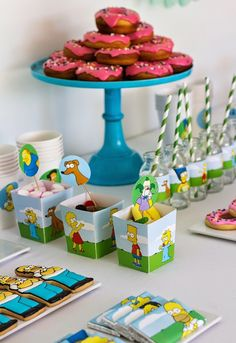 The Simpsons themed birthday party with SUCH AWESOME IDEAS via Kara's Party Ideas | KarasPartyIdeas.com Favors, games, printables, cakes, and more! (3)