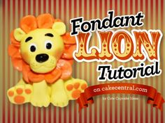 How To Make A Fondant Lion Cake Topper Tutorial Part 1