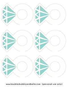 Free Printable: Diamond Ring Drink Tags from Baubles & Belle Breakfast At Tiffanys Party Ideas, Diamond Party, Diamond Theme, Drink Tags, Tiffany's Bridal, Tiffany Party, Denim And Diamonds, Bride Shower, Bachlorette Party