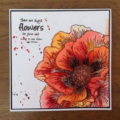 Where has that beautiful warm weather gone? The wind has blown it away I fear! I've been playing with this g. Poppy Cards, Thing 1, Remembrance Day, Alcohol Ink Art, Small Art, Card Maker, Watercolor Cards, Flower Cards, Homemade Cards