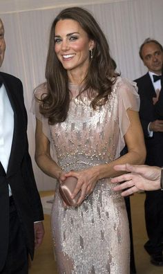 Find out how you can get some of the same sparkle Kate Middleton had in this peachy pink beaded Jenny Packham dress - the designer is coming to David's Bridal!