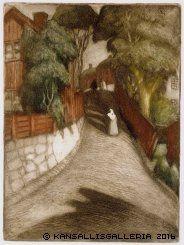 Albert Edelfelt: Gata i Borgå - Katu Porvoossa - - Street in Porvoo (1902)