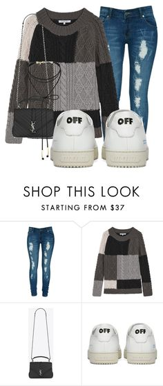 """#ootd ✔"" by triceyfashion on Polyvore featuring Criminal Damage, Gérard Darel, Yves Saint Laurent, Off-White and Miss Selfridge"