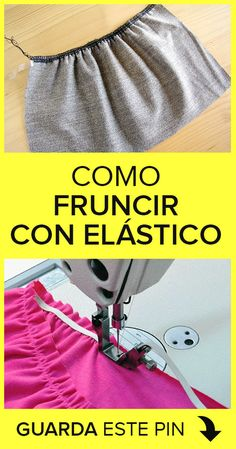 How to Pucker with Elastic- Como Fruncir con Elastico Course on how to gather with elastic thread in a very simple way. Learn for free with this training! Sewing Tutorials, Sewing Hacks, Sewing Patterns, Youtube Sewing, Flat Felled Seam, Elastic Thread, Kids Canvas, Diy House Projects, Rolled Hem