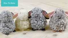 Supplies: -Yarn (style of bunny depends on thickness of yarn – thick yarn takes less than the thinner yarn, but also gives a different look) -Cardboard -Felt...