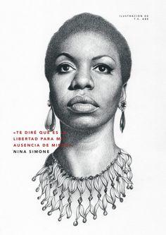 Portrait Illustrations for the hit books 'Goodnight Stories for Rebel Girls' 1 & Black Women Art, Black Art, Nina Simone Quotes, Girl Power Tattoo, Aesthetic People, Urban Aesthetic, Afro Art, Hippie Art, Punk