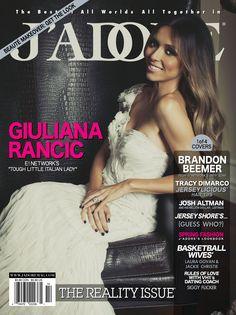 Giuliana Rancic on the cover of J'Adore magazine in Sherri Hill 2879