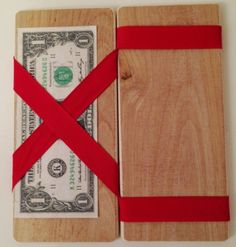 Toy Magic Wallet - Handcrafted Wooden Toy Magic Wallet - Easter Basket - Great for gifts of cash or gift card - slight of hand trick Wooden Decor, Wooden Toys, Rustic Toys, Hand Tricks, Car Holder, Graduation Gifts, Fascinator, Illusions, Party Favors