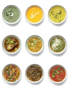 easy vegetable soups by mark bittman. even more options on the link.