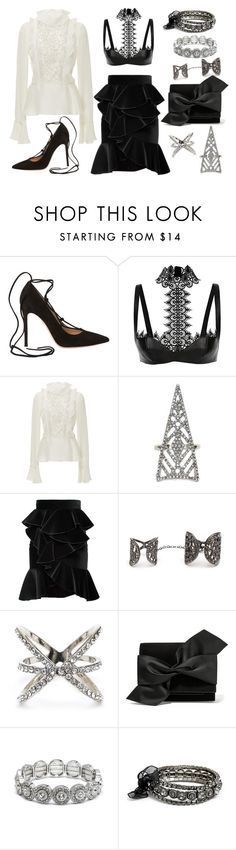 """""""Accessorize with Jewel Cult - Victorian Glam"""" by jewelcult ❤ liked on Polyvore featuring Gianvito Rossi, Alexander McQueen, Giambattista Valli, Balmain and Victoria Beckham"""