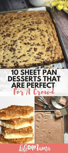 some sweets to feed several guests? These sheet pan desserts will get the j Need some sweets to feed several guests? These sheet pan desserts will get the j. -Need some sweets to feed several guests? These sheet pan desserts will get the j. Cooking For A Crowd, Desserts For A Crowd, Köstliche Desserts, Cooking On A Budget, Food For A Crowd, Crowd Recipes, Budget Recipes, Easy Cheap Desserts, Healthy Desserts