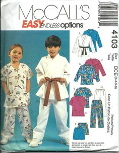 McCall's 4103 Boys and Girls Top Shorts and by DawnsDesignBoutique