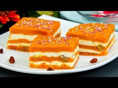 Un desert extraordinar ce îți menține silueta - budincă din dovleac cu brânză și stafide | SavurosTV - YouTube Queso Fresco, No Cook Desserts, Russian Recipes, I Foods, Nutella, French Toast, Cheesecake, Goodies, Food And Drink