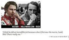 Niki Lauda's quote about Daniel's portrayal of him...