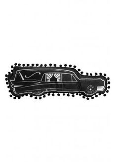Sourpuss Hearse Shaped Pillow | Attitude Clothing