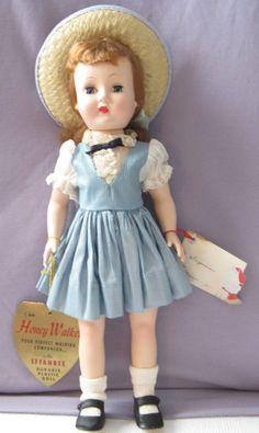 Vintage Effanbee Honey Walker 14' doll made in the 1940's