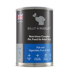 Fish complete wet food for dogs