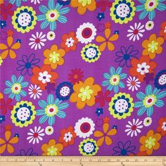 Rayon Challis Floral Fuchsia from @fabricdotcom  This rayon challis fabric has a smooth luxurious hand and soft, liquid drape. Perfect for fuller skirts and dresses, blouses, shirts, scarves and tunics. Colors include orange,  yellow, teal, blue, and purple on a fuchsia background.