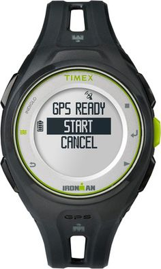 The Timex IRONMAN Run x20 GPS Watch in Charcoal fits like a sports watch. This watch shows how fast and how far you are going like a GPS. The rechargeable battery lasts up to 6 hours in full GPS mode, and 1 week in Standby.