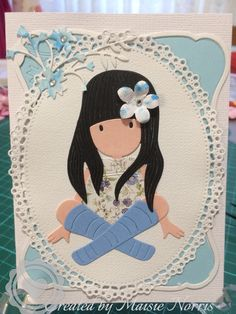 Little People, Little Ones, Little Girls, Sitting Girl, Diy And Crafts, Paper Crafts, Thing 1, Amigurumi Doll, Diy Cards