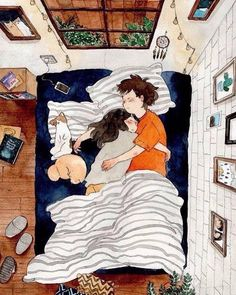 Image uploaded by Imaginary Friend. Find images and videos about love, art and couple on We Heart It - the app to get lost in what you love. Love Cartoon Couple, Cute Love Cartoons, Anime Love Couple, Cute Anime Couples, Cartoon Love Photo, Cute Couple Drawings, Cute Couple Art, Love Drawings, Couple Illustration