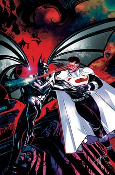 "BATMAN BEYOND UNIVERSE #11 Written by KYLE HIGGINS and CHRISTOS GAGE Art by THONY SILAS and DEXTER SOY Cover by TREVOR McCARTHY On sale JUNE 25 • 48 pg, FC, $3.99 US • RATED T • DIGITAL FIRST ""Justice Lords Beyond"" continues as the shocking truth behind Wonder Woman's return is finally revealed! Plus: Lord Superman vs. Batman—oh yeah, it's on now!!!"