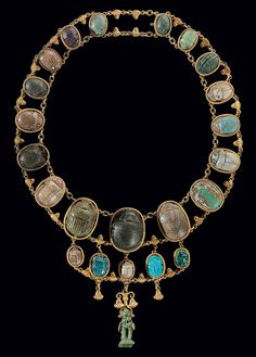 Twenty two Egyption scarabs - Middle Kingdom to Ptolemaic Period, Circa 2000-30 B.C.. CLICK to enlarge