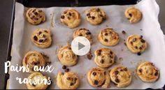 Des pains aux raisins maison, meilleurs qu'à la boulangerie.