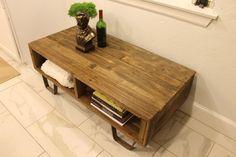 Reclaimed Wood Box Coffee Table or Media Console door theWobblyKnob