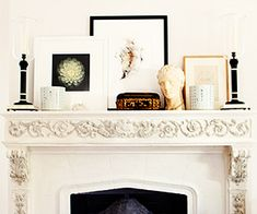 Style a mantlepiece // living room
