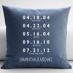 Personalized S Key Dates Throw Pillow Cover From Redenvelope A Nice Wedding Gift
