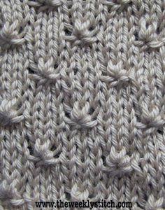 301ee7b8b Knot Stitch | The Weekly Stitch Vzory Na Pletenie, Návody Na Pletenie,  Projekty Na