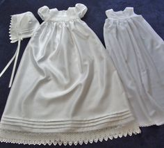 White Christening Gown/ Baptismal Dress Set Size Medium For Baby Girl. $185.00, via Etsy.