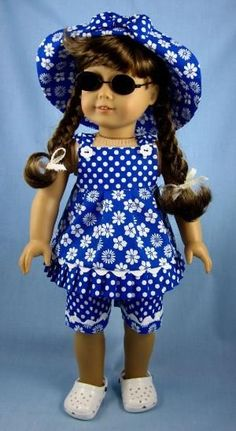 American Girl Dolls : American Girl Doll Clothes Three Piece by SewMyGoodnessShop Sewing Doll Clothes, American Doll Clothes, Girl Doll Clothes, Doll Clothes Patterns, Girl Dolls, Doll Patterns, America Girl, Doll Costume, Girl Outfits