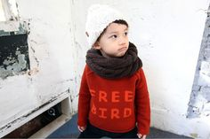Free Bird Sweater. Thick jacquard. Kids are warm and stylish this winter.