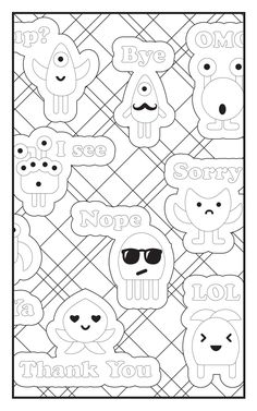 Amazon Emoji Crazy Coloring Book 30 Cute Fun Pages For Adults