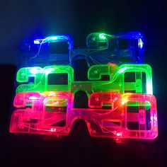 Led Sunglasses 2020 Shaped LED Eye Glasses Light Up Flashing Party Glasses For Christmas Bar KTV Party Glow Glasses[product name]: 2020 new year lights flash glasses [product size]: length high Graduation Celebration, Graduation Party Decor, Christmas And New Year, Christmas Holidays, Christmas Decor, Christmas Glasses, Party Mode, Party Lights, Diy Party Decorations
