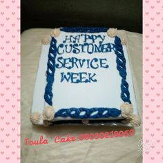 Customer Service Week, Cakes, Desserts, Food, Tailgate Desserts, Deserts, Cake Makers, Kuchen, Essen
