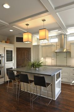 pantry door Lake Country Builders - contemporary - Kitchen - Minneapolis - Lake Country Builders
