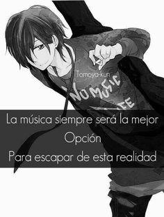 Yo me puedo salir de la realidad con solo escuchar una musica qe me haga olvidar mi dolor.