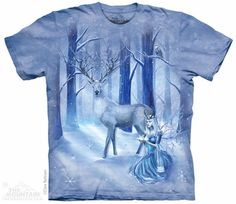 Frozen Fantasy T-Shirt - $18.95 - The perfect tee for winter, featuring a fairy and her stag companion!